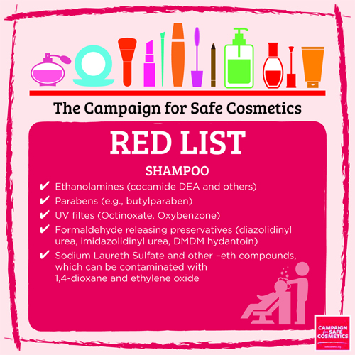Image result for red list shampoo